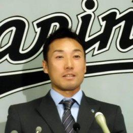 会見でメジャー挑戦を表明/(C)日刊ゲンダイ