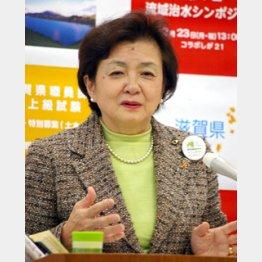 「反民主主義の法案だ」と嘉田知事/(C)日刊ゲンダイ