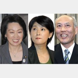 橋本聖子、小谷真生子、舛添要一/(C)日刊ゲンダイ