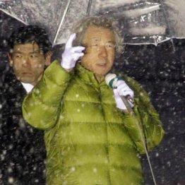 大雪の中でも絶叫/(C)日刊ゲンダイ
