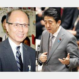 小松法制局長官(左)と安倍首相/(C)日刊ゲンダイ