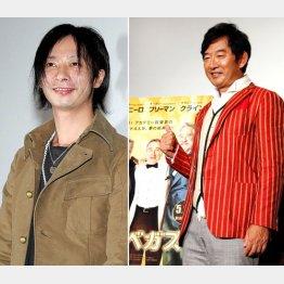 再婚する壱成(左)にエールを送る父・純一/(C)日刊ゲンダイ