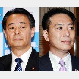 民主党の海江田代表(左)と前原元代表/(C)日刊ゲンダイ