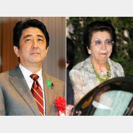 14日、自身の誕生会に参加した母・洋子さん(右)/(C)日刊ゲンダイ