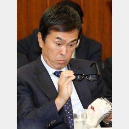 やっと撤回(19日、参院環境委員会)/(C)日刊ゲンダイ