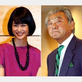 みのもんた(右)と夏目三久/(C)日刊ゲンダイ