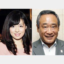 上西議員(左)と大西議員/(C)日刊ゲンダイ