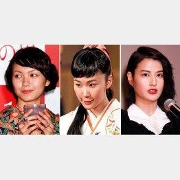 (左から)二階堂ふみ、黒木華、橋本愛/(C)日刊ゲンダイ