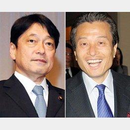 小野寺防衛相(左)とパソナ・南部代表/(C)日刊ゲンダイ