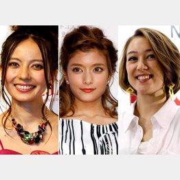 左からベッキー、ローラ、SHELLY/(C)日刊ゲンダイ