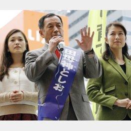 """都知事選では""""美女軍団""""も話題になった/(C)日刊ゲンダイ"""