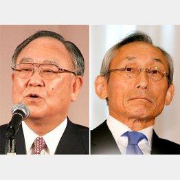 キヤノン・御手洗社長(左)、武田薬品・武田会長/(C)日刊ゲンダイ