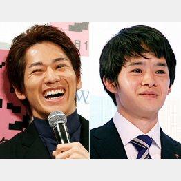 永山絢斗(左)と池松壮亮/(C)日刊ゲンダイ
