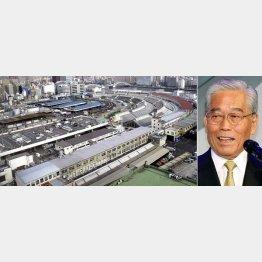 日枝会長が推す台場より築地市場は広々/(C)日刊ゲンダイ