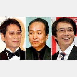 左から、大杉漣、小日向文世、生瀬勝久/(C)日刊ゲンダイ
