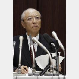 「吉田調書」報道で謝罪会見する木村社長/(C)日刊ゲンダイ