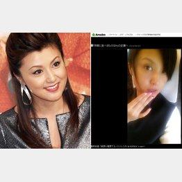 すっぴん?をブログで公開(右)した紀香、左はバッチリメーク/(C)日刊ゲンダイ