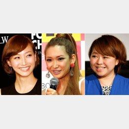 左から藤本美貴、紗栄子、やしろ優/(C)日刊ゲンダイ