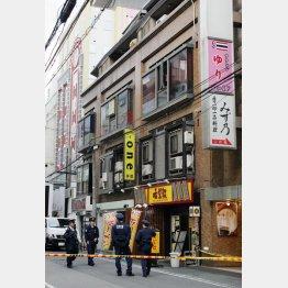 犯行に及んだ雑居ビル/(C)日刊ゲンダイ