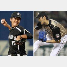 藤浪(左)はパワーアップ成功がカギになりそう/(C)日刊ゲンダイ