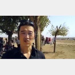 シリア北部で取材活動をしていた後藤氏/(C)AP