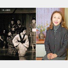 舞台「小さな花がひらいた」の1シーン(左)/