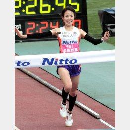 前田選手が頭角を現したのは14年大阪国際女子マラソン