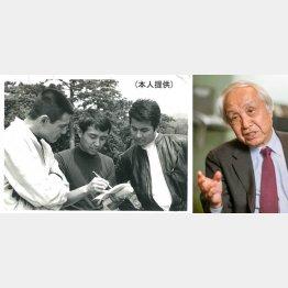 (写真左)右から梅宮辰夫、内藤監督、菅原文太