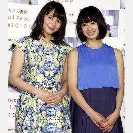 広瀬アリス(左)と門脇麦