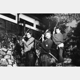「三匹の侍」 左から加藤剛、長門勇、平幹二朗
