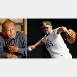 江夏豊氏(左)は松坂大輔を心配する