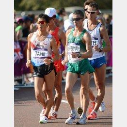 ロンドン五輪男子50キロ競歩(左は谷井孝行)