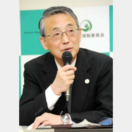 原子力規制委員会の田中俊一委員長