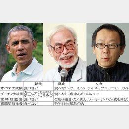 左から、オバマ米大統領(C)AP、宮崎駿監督、星野佳路氏