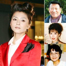 宝生舞さん(左)、右上から砂塚秀夫さん、小林ひとみさん、原悦子さん