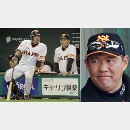 阿部を指導する村田コーチ(右は斎藤コーチ)