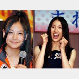 清水富美加(左)と土屋太鳳