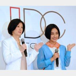 久美子社長(左)と平祐奈