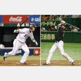 首位打者争いを演じている秋山(左)と柳田