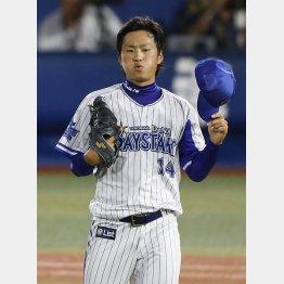 石田は5安打3失点で降板も打線に救われた