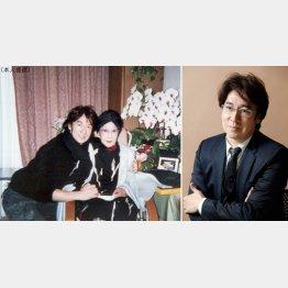 生前の山田五十鈴さんとのツーショット写真(左)