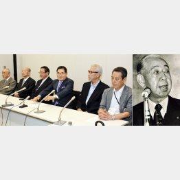 自民党有力OBが政権内の秘話を披露(右は岸信介元総理)