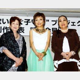 左から、西舘好子、クミコ、湯川れい子氏