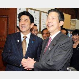 安倍首相と公明党の山口代表