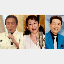 総合司会の北島三郎と司会の松坂慶子 出演した田原俊彦