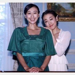 浅田舞と真央(右)姉妹