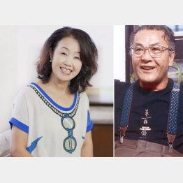 清水よし子さん(左)と故・石井光三会長