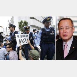 有田芳生(右)は徹底抗議の方針