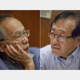 佐高信氏(左)