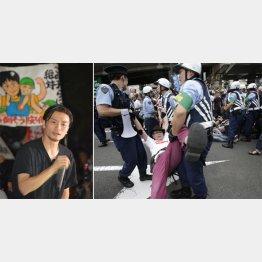 殺害予告を受けたSEALDs奥田愛基さん(左)
